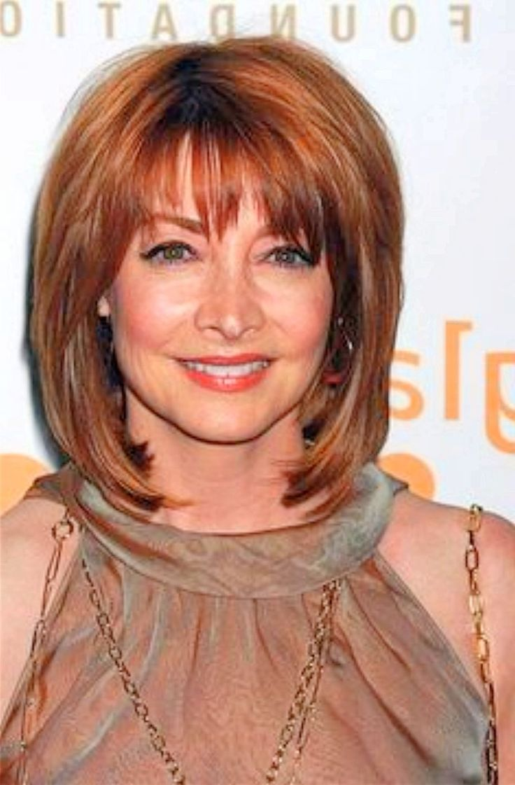 Medium Length Hairstyles For Women Over 60 | Bangs ...