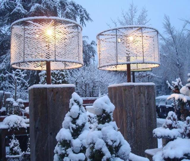 Outdoor lamp (Steigerhout met kippengaas)