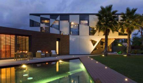 Modern villa with pool, Terramar, Sitges, Spain.
