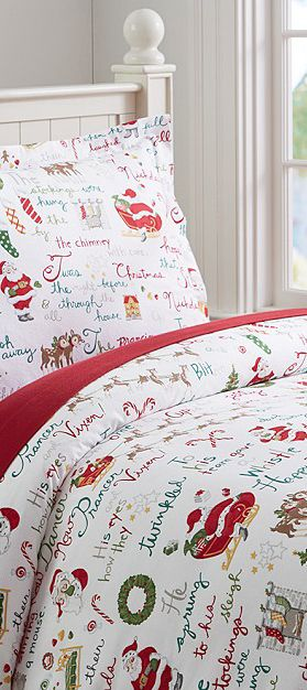 Twas The Night Before Christmas Bedding - for Sawyer, his Christmas bedspread needs to be replaced.