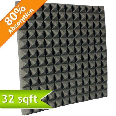 Aqua Udderly Quiet™ Pyramid Studio Foam (Case Of Reduces The Reverberation  Within Recording Studio Environments And Improves The Acoustics In Any  Space ...