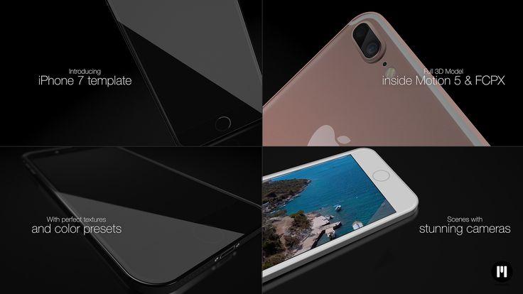 New #FCPX & #Motion5 Template! #iPhone7 - motionvfx.com/N2094 #FinalCutProX #VideoEditing #Apple #Design #MotionGraphics