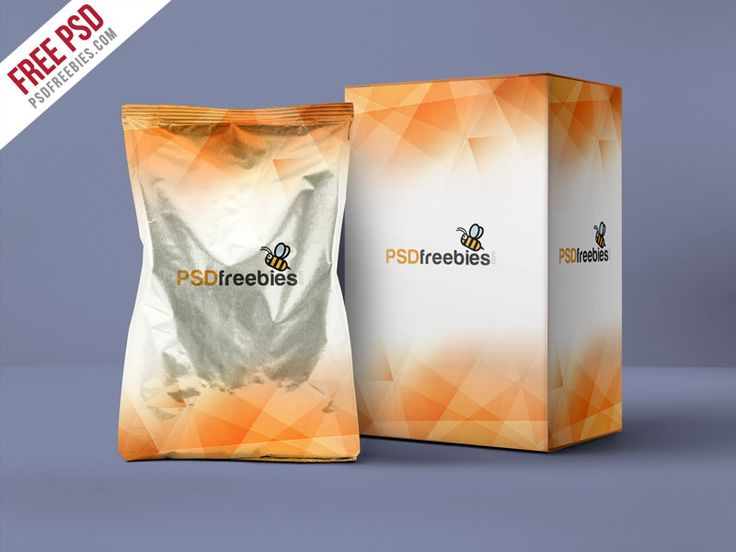 Aluminum Pouch And Box Mockup Psd Template Mockup Psd Box Mockup Psd Templates