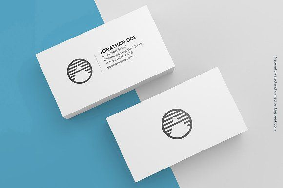 3 Blank Business Cards Mockup by Linepeak Design on @creativemarket