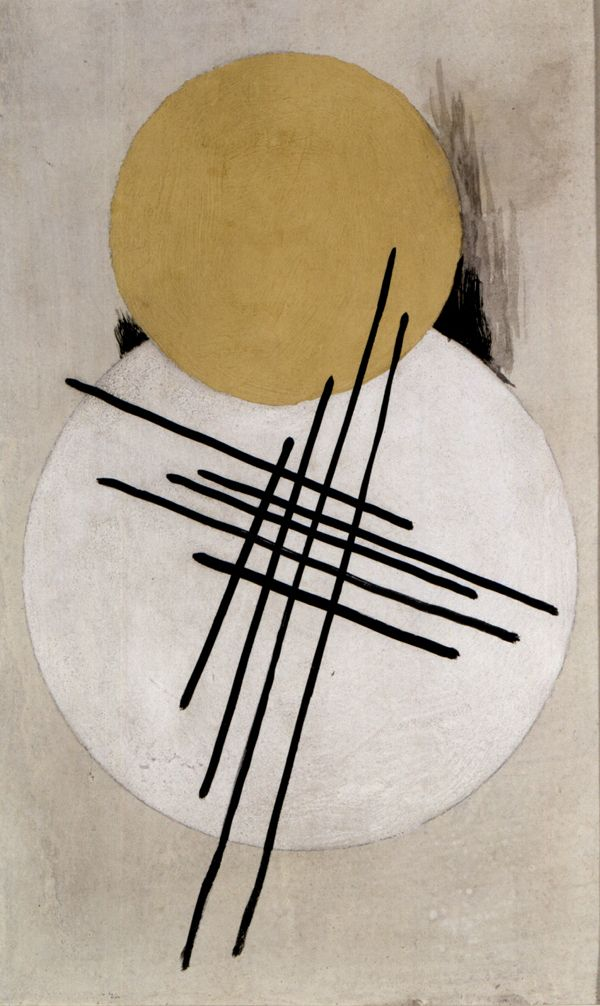 Non-Objective Composition, c.1920. Lyubov Sergeyevna Popova was a Russian avant-garde artist, painter and designer. In 1916 she joined the Supremus group with Malevich, the founder of Suprematism. The creation of a new kind of painting was part of the revolutionary urge of the Russian avant-garde to remake the world. However there was a tension between those who, like Malevich saw art as a spiritual quest, & others who responded to the need for the artist to create a new physical world.