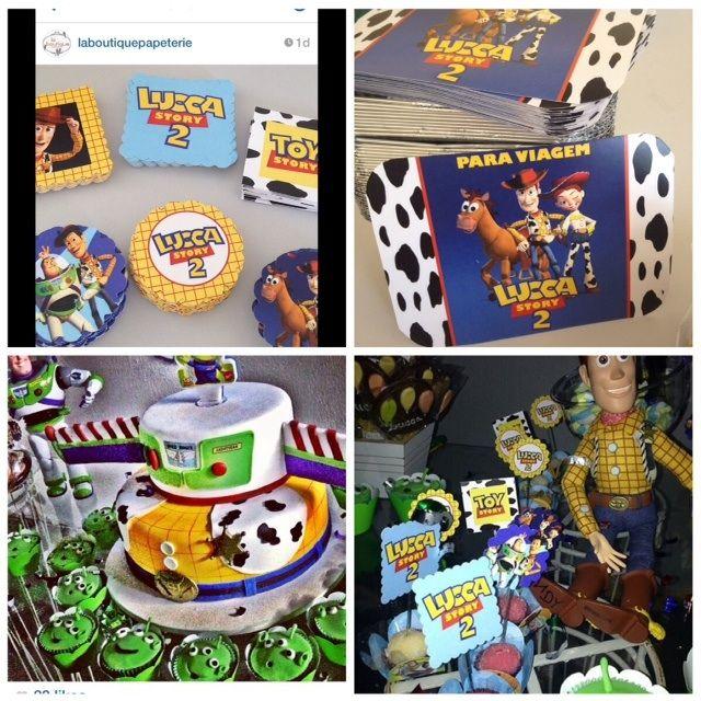 Papelaria personalizada feita pela La Boutique Papeterie, para o aniversário de 2 aninhos do Lucca, tema Toy Story