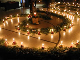 A Mountain Hearth: Advent Spiral Walk - slightly revised...