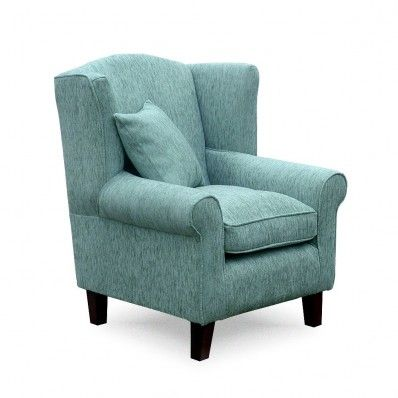 Wing Back Chair Exclusively In Duck Egg Blue
