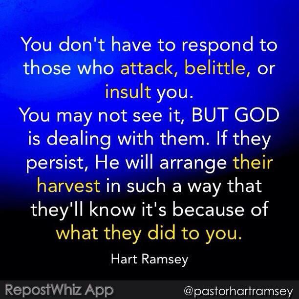 Amen  God is dealing with Evil for Us                                                                                                                                                     More