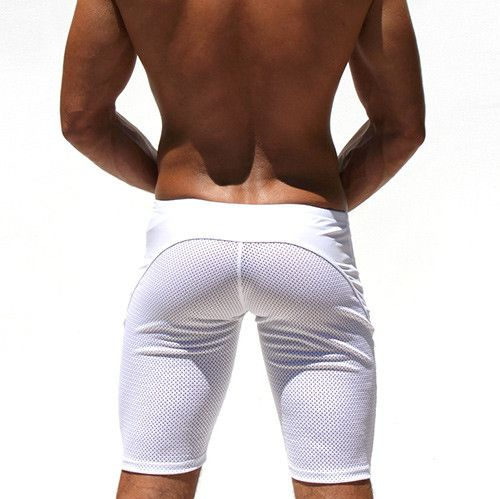Sexy Casual Men's Tight Shorts Leisure Summer Slim Fitted Men Mesh Workout Shorts Skinny Crossfit Men's Fight Short