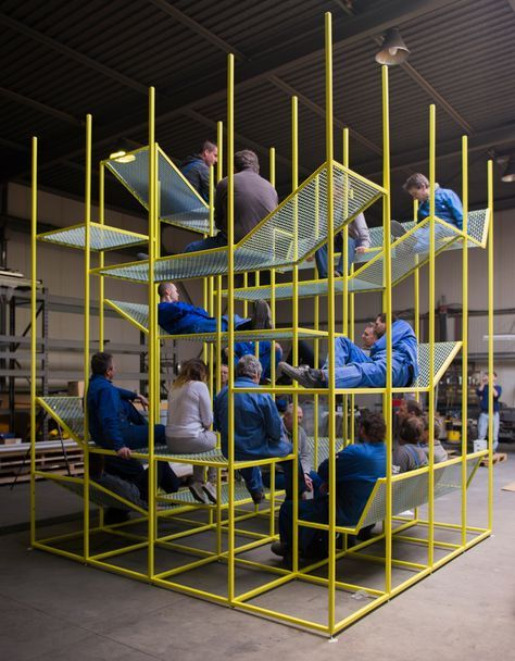 jonas van put buzzijungle for buzzispace biennale interieur kortrijk designboom #istallazioni #design
