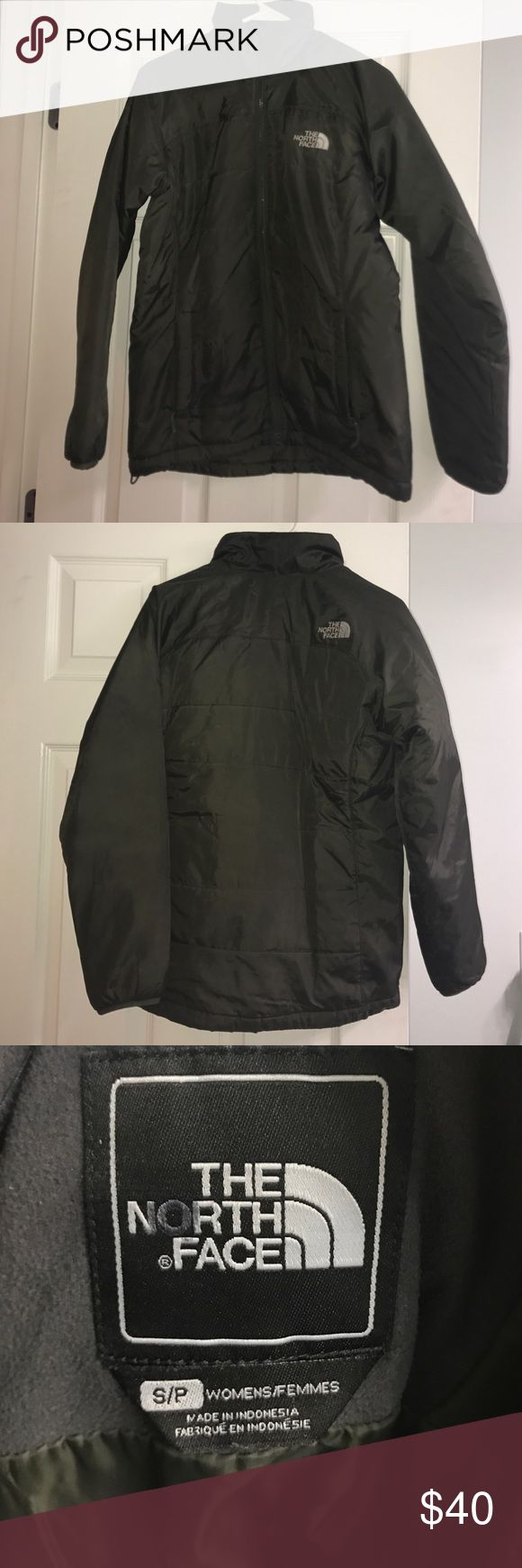 Women's North Face jacket Women's Small Army Green North Face Jacket.  Bought from the North Face Outlet. In good condition! The North Face Jackets & Coats Puffers
