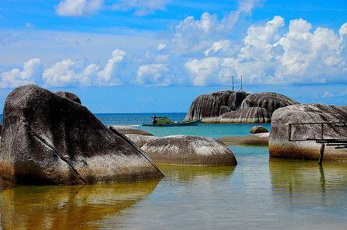 Batu Shindu, Tanjung Beach at Natuna Island Indonesia