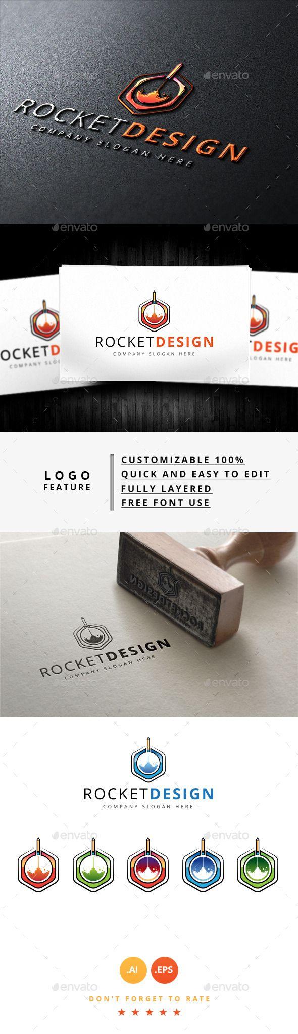 Rocket Design Logo — Vector EPS #brand logo #photo logo • Available here → https://graphicriver.net/item/rocket-design-logo/8956783?ref=pxcr