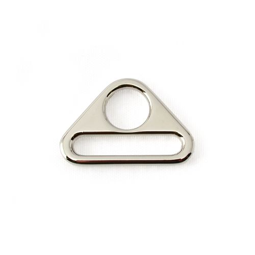 """1"""" Two Hole Triangle Ring - Nickel (Pair), £1.65"""
