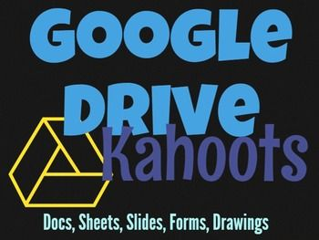 • Kahoot is a game-based classroom response system • Create and play quizzes, discussions and surveys using any device with a web browser • Motivate participation through game-based learning and rewards in a social setting  •	This resource contains instructions for accessing My Free Public Kahoots about Google Drive (Docs, Sheets, Slides, Drawings, Forms