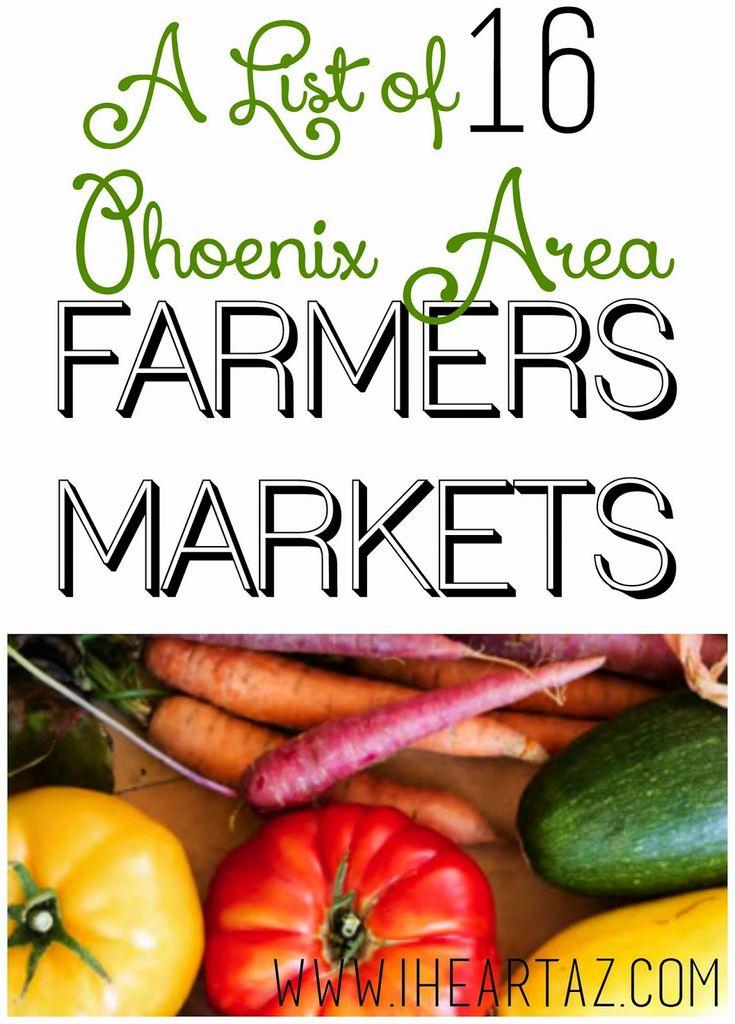 A list of phoenix area farmers markets farmers market