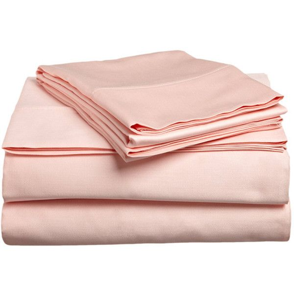 Cora Egyptian Cotton Sheet Set in Peach Her Beauty Sleep ❤ liked on Polyvore featuring home, bed & bath, bedding, bed sheets, egyptian cotton sheet sets, egyptian cotton bedding, peach bedding and egyptian cotton bed linen