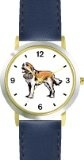 Cheap Saint Bernard Dog - WATCHBUDDY® DELUXE TWO-TONE THEME WATCH - Arabic Numbers - Blue Leather Strap-Children's Size-Small ( Boy's  Large selection at low prices - http://greatcompareshop.com/cheap-saint-bernard-dog-watchbuddy-deluxe-two-tone-theme-watch-arabic-numbers-blue-leather-strap-childrens-size-small-boys-large-selection-at-low-prices