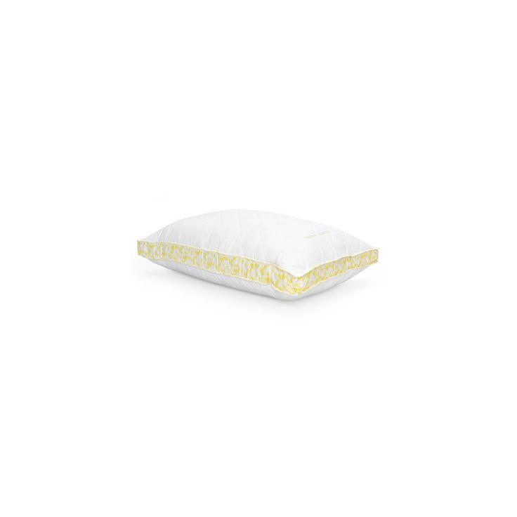ava down alternative bed pillow jumbo white u0026 yellow laura ashley