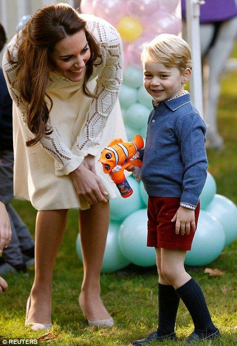 Cheeky George and Mummy Catherine
