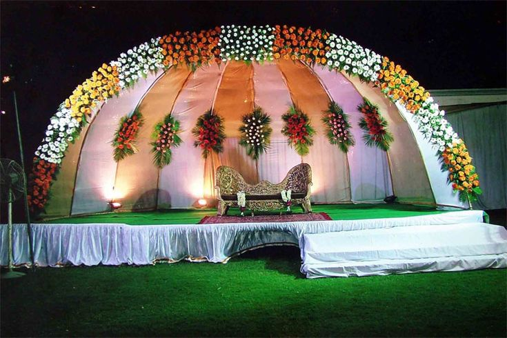 Wedding hall decoration for Hall decoration images