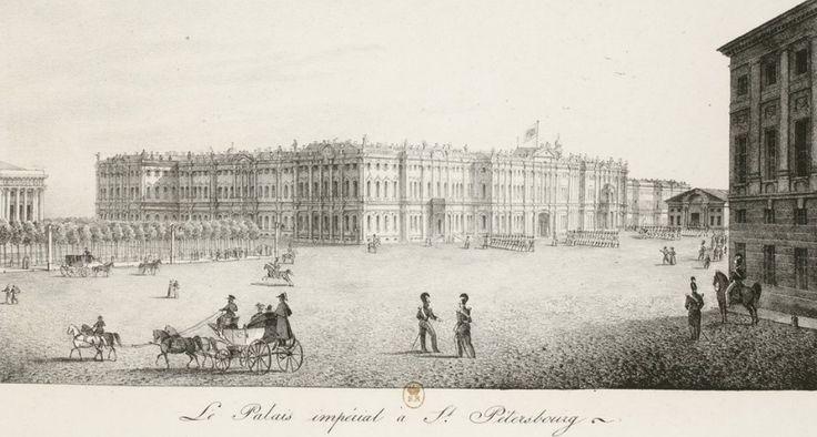 По официальной версии, разумеется, на площади ничего не было до колонны - тому в подтверждение есть несколько старых художественных картин с якобы пустой дворцовой площадью