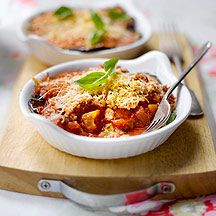 Aubergine Tomato and Parmesan Bake Great for lunch or as a side. Consider adding mushrooms too