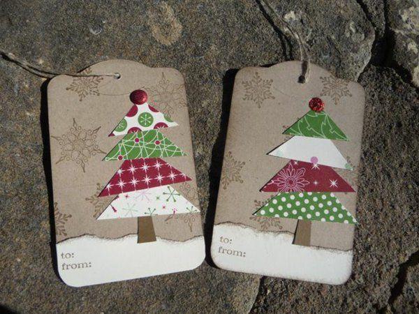 Schöne muster Weihnachtskarten selber basteln