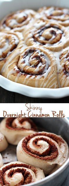 Skinny Overnight Cinnamon Rolls - Easy AND guilt-free?! This recipe is AMAZING!