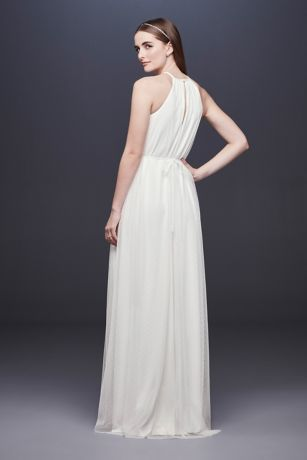 87e76b287c Point D Esprit High Neck Sheath Wedding Dress Style DS870063, Soft ...