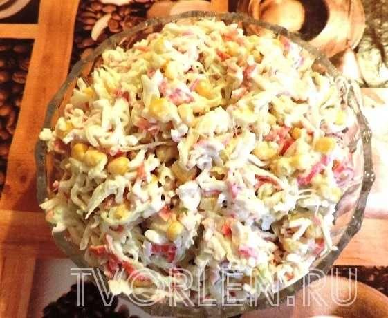 крабовый салат из крабовых палочек, в котором нет ни одного краба
