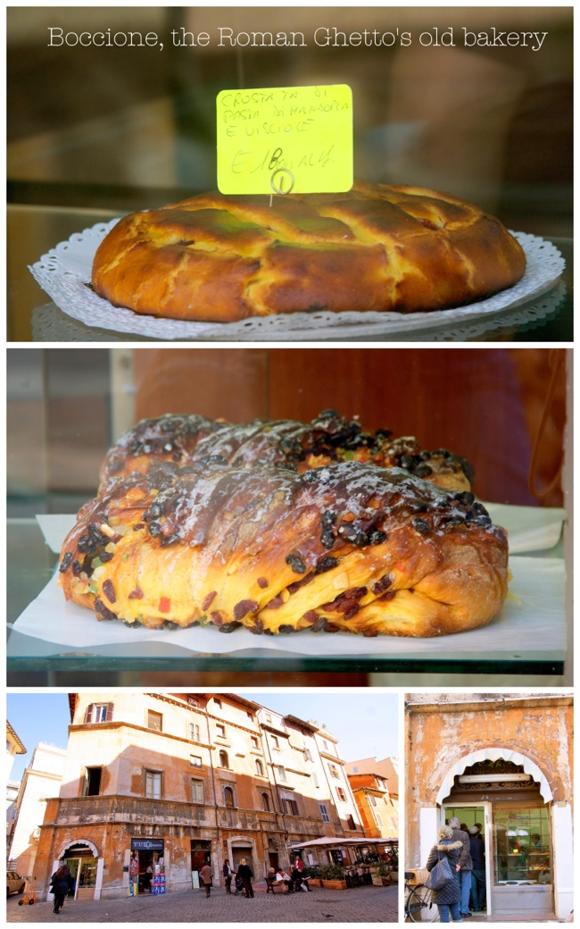 bakery in Rome's ghetto section