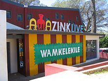 Xhosa language -Sign outside the AmaZink township theatre restaurant in Kayamandi welcomes visitors in Xhosa