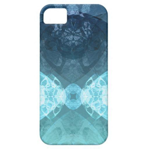 cool symmetric patterned iPhone Case - blue version