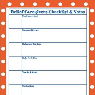 Daily Notes for Caregivers {with Free Printable Forms ...