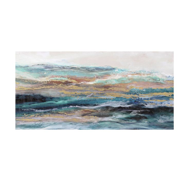 Product Details Teal Waves Canvas Art Print