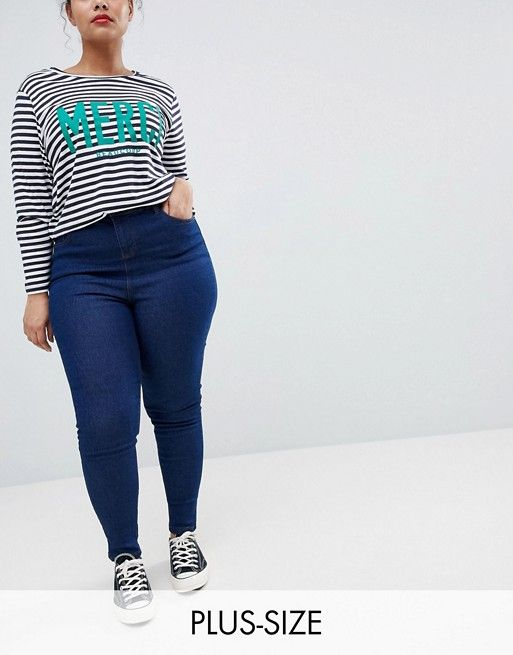 3347f3b0d9c749 New Look Curve basic skinny denim jegging in blue in 2019 | PLUS Size Under  50.00 | Jeggings, Fashion, New look heels