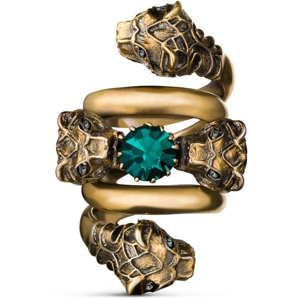 7d90795bed Gucci Double Wrap Ring With Tiger Heads ($470) ❤ liked on Polyvore ...