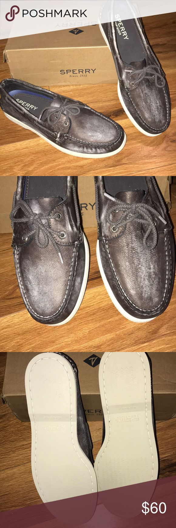 New! Sperry Top-Sider! New with box! Men's Sperry top sider. In Color wash gray. Size 12.  leather.   Never worn! Perfect for a great Christmas gift! Box comes with box is slightly damaged from store but still good. Sperry Top-Sider Shoes