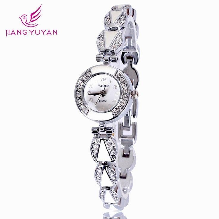 Часы женские мода кварцевые часы платье наручные часы мода сплава ремень круглый циферблат блестящий кристалл часы большие цифры часы