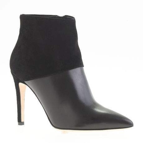 Collection Leather and Suede Ankle Boots - Lyst