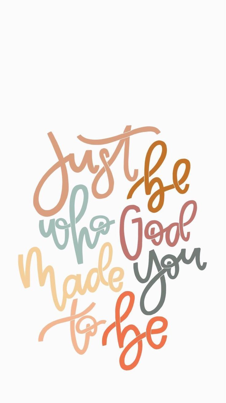 Inspirational And Motivational Quotes : Just be who God made you to be.