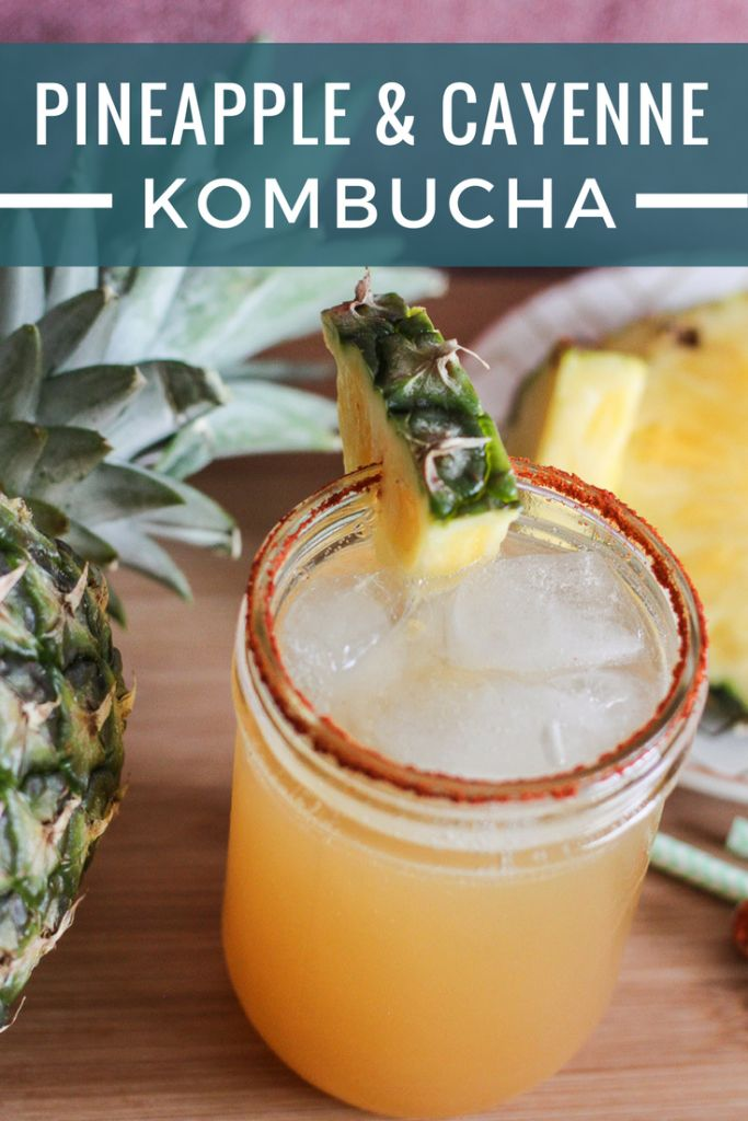 Spice up your homemade kombucha with this recipe for pineapple and cayenne pepper kombucha! It's sweet with a bit of heat!