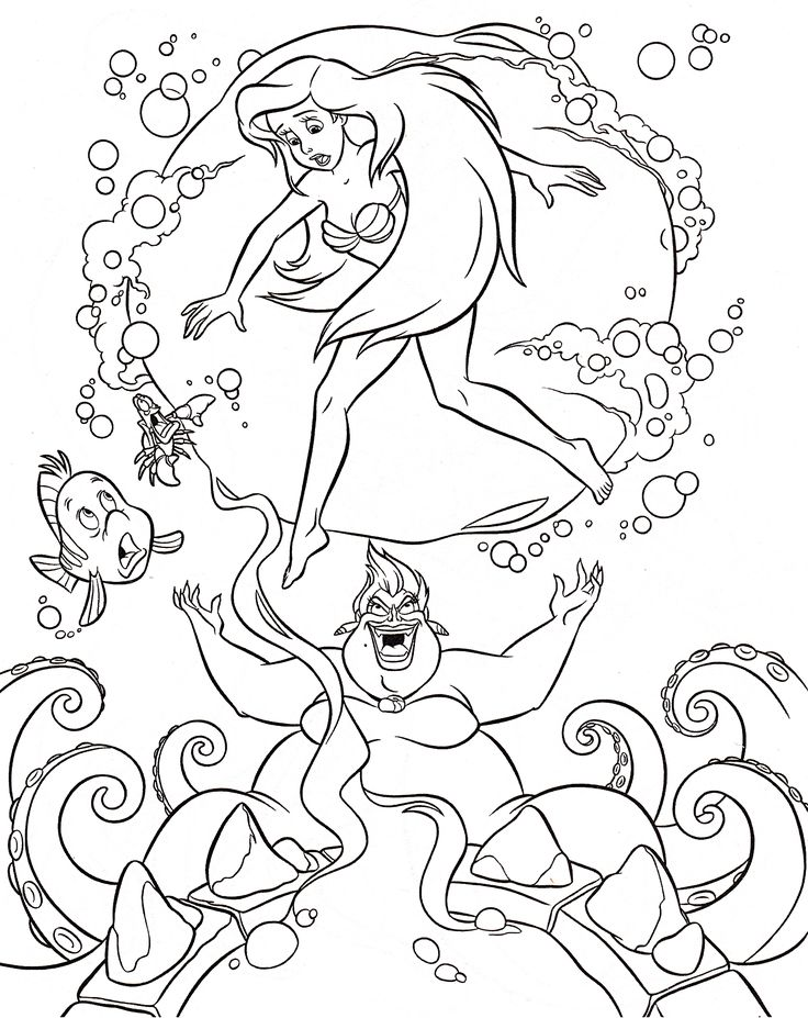 Ursula Coloring Pages Free Online Printable Sheets For Kids Get The Latest Images Favorite To