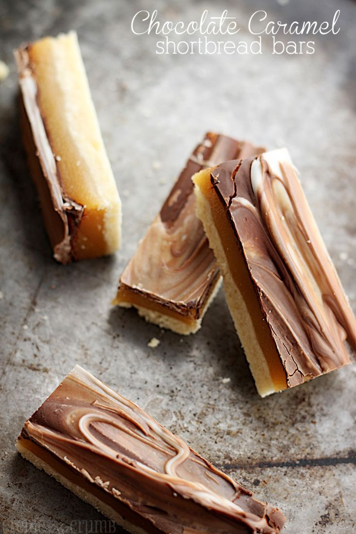 Chocolate Caramel Shortbread Bars - dangerously good! ♥