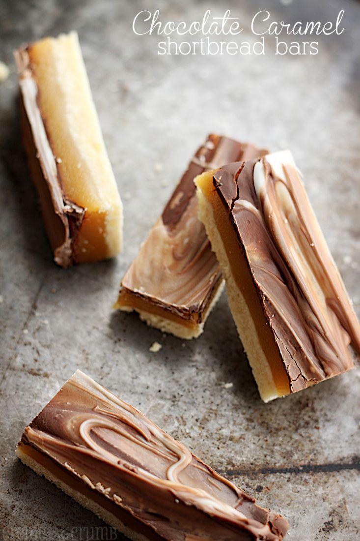 Chocolate Caramel Shortbread Bars... Oh wow!