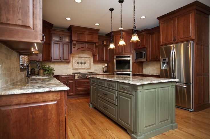 Gorgeous Cherry Cabinets In Shaker Style Alder Island