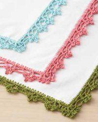 Lace Napkin Edging: Lace Edge, Napkins Edge, Lace Napkins, Crochet Border, Baby Blankets, Crochet Lace, Crochet Edge, Free Patterns, Crochet Patterns