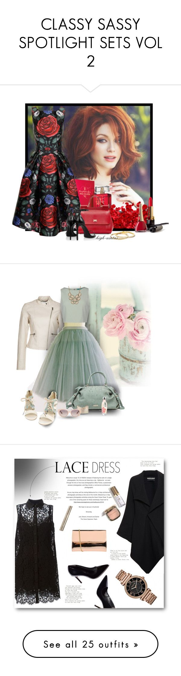 """""""CLASSY SASSY SPOTLIGHT SETS VOL 2"""" by mk-style ❤ liked on Polyvore featuring Kate Spade, Elizabeth Arden, Chi Chi, Dolce&Gabbana, Yves Saint Laurent, Henri Bendel, Vero Moda, Alice + Olivia, Urban Expressions and Ruby Rocks"""